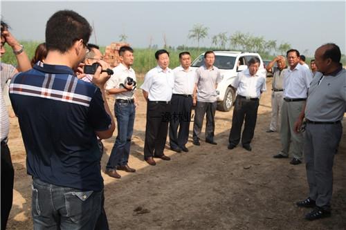 河北省農墾系統領導到河北海興農場基地參觀
